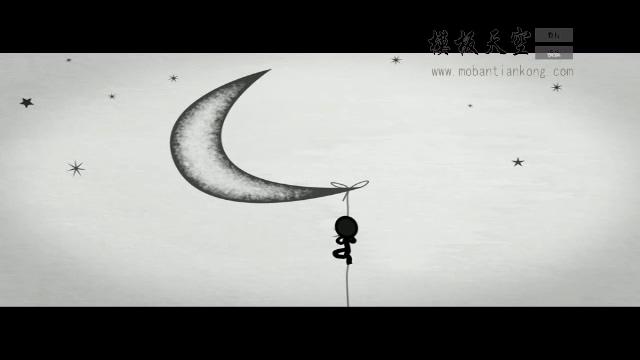 11050035诙谐动画小黑人开场小标题