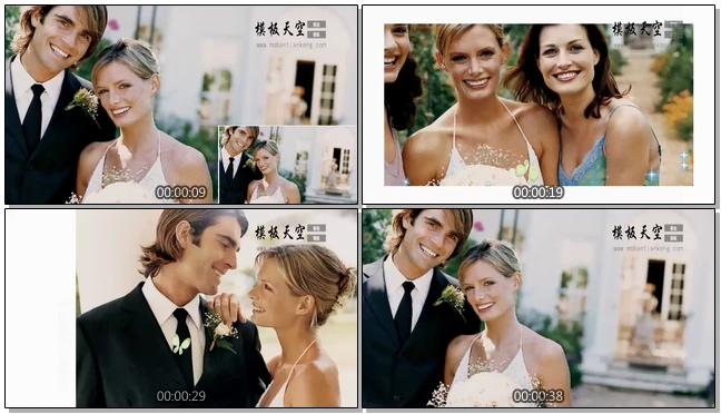 11010044官方经典的婚礼邀请函相册模板