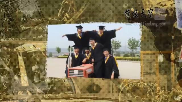 会声会影经典大学同学留念毕业晚会视频模板