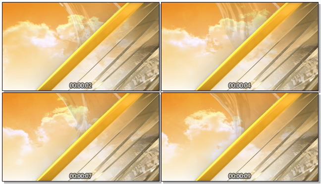 黄昏动态云朵背景视频素材
