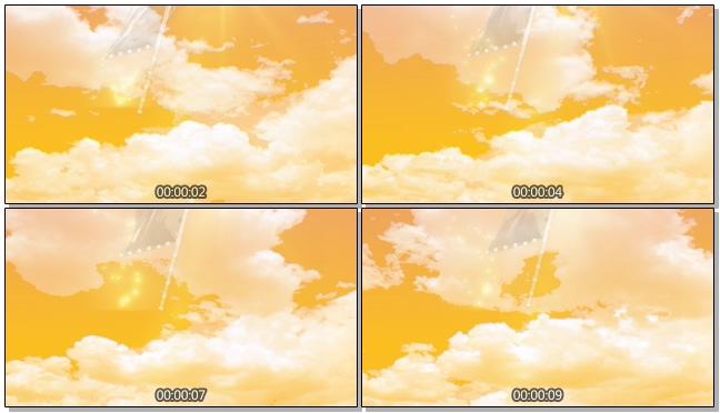 黄昏动态大旗帜背景视频素材