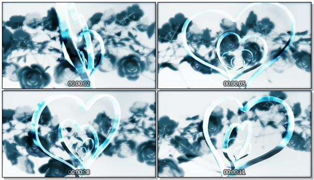 藏蓝色双心戒指背景视频素材
