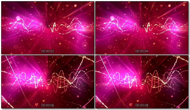 粉色光点唯美浪漫背景视频素材