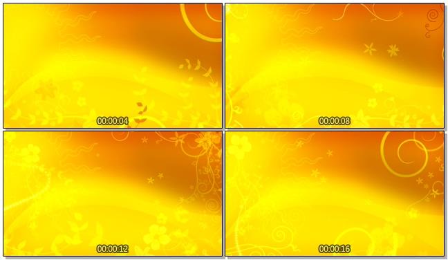金色太阳花纹唯美浪漫背景视频素材