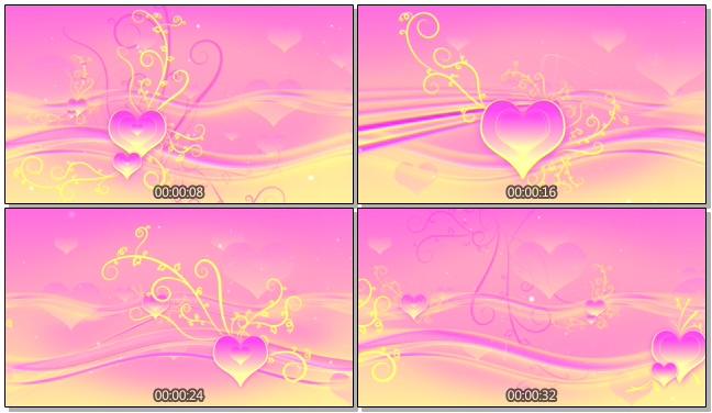 粉色清新爱心唯美浪漫背景视频素材