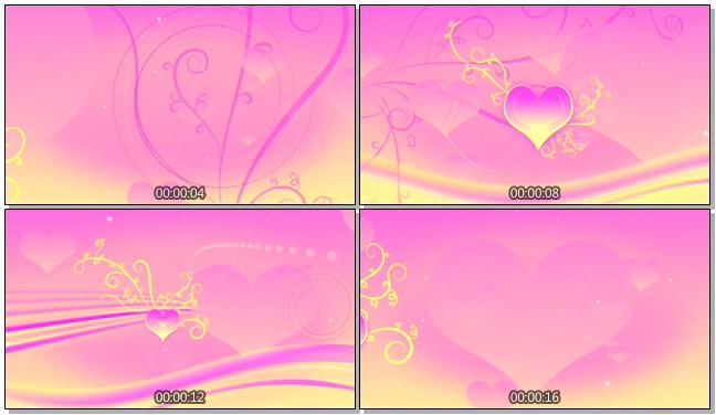 粉色简洁爱心树唯美浪漫背景视频素材