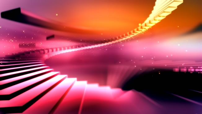 炫彩时尚楼梯背景视频素材