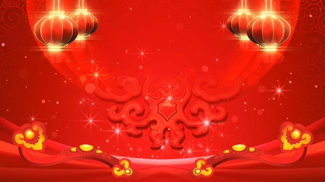 喜庆灯笼如意粒子红色晚会背景视频素材