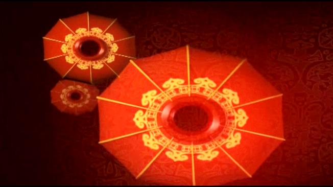 中国红喜庆好运灯笼背景视频素材