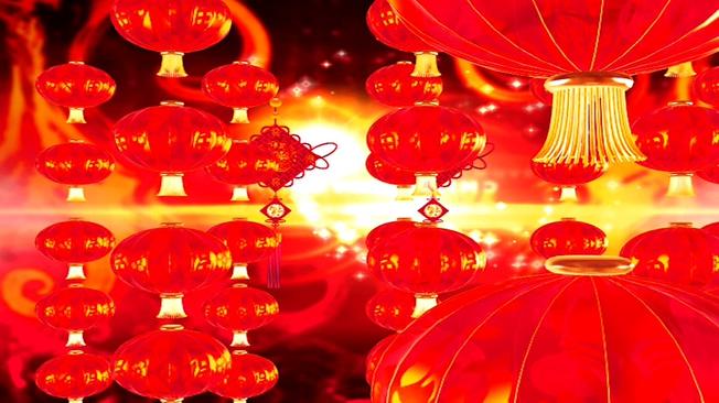 红色剪纸中国背景视频素材