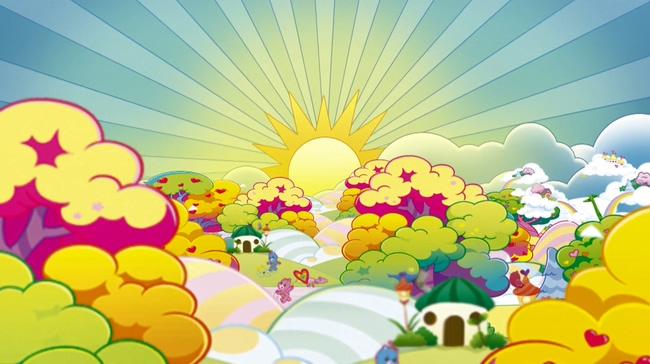 欢快可爱儿童幼儿园背景视频素材