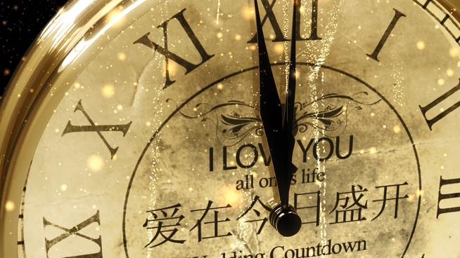 欧式钟表倒计时背景视频素材