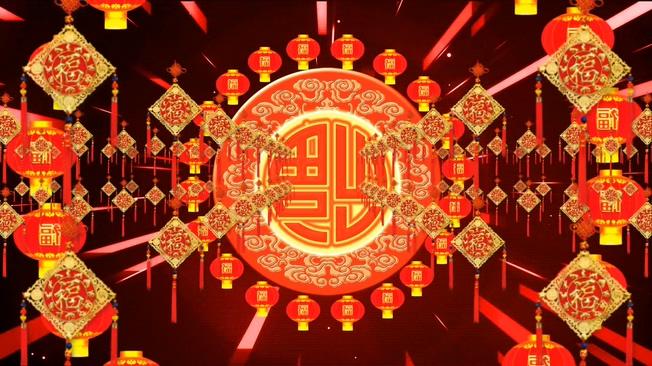 元旦春节素材背景视频素材2