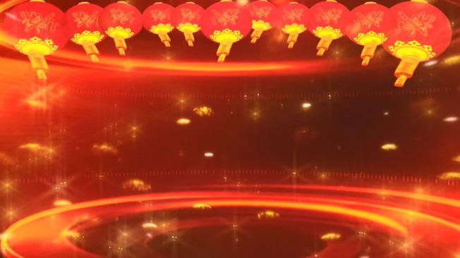 红灯笼新年晚会舞台背景视频素材