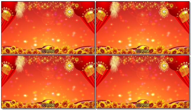 红色丰收时代背景视频素材
