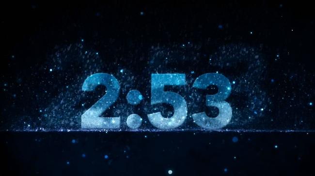 蓝色电子闹钟倒计时3分钟背景视频素材