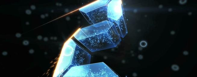 震撼年会晚会开场电流水晶火光5秒倒计时背景视频素材