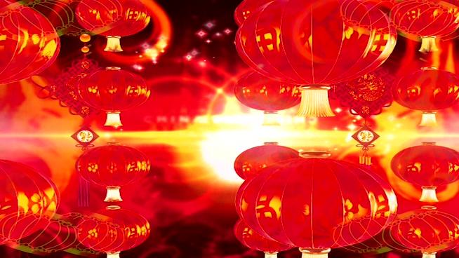 中式剪纸灯笼背景视频素材