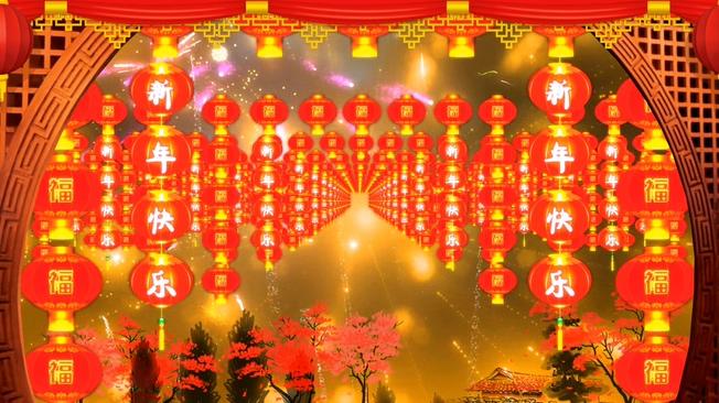 春节过年喜庆背景视频素材