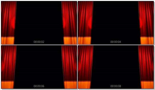 暗红色幕布背景视频素材