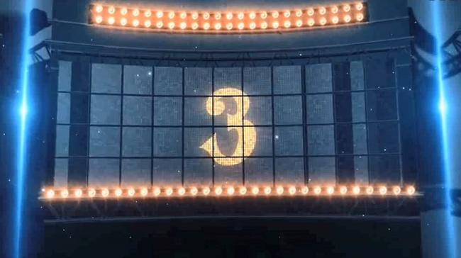 蓝色剧场倒计时背景视频素材