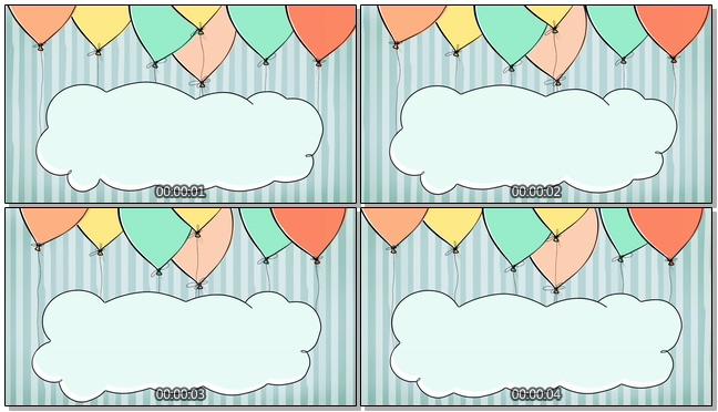 手绘气球留言板背景视频素材