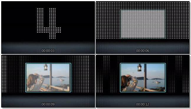 简洁倒计时5秒背景视频素材