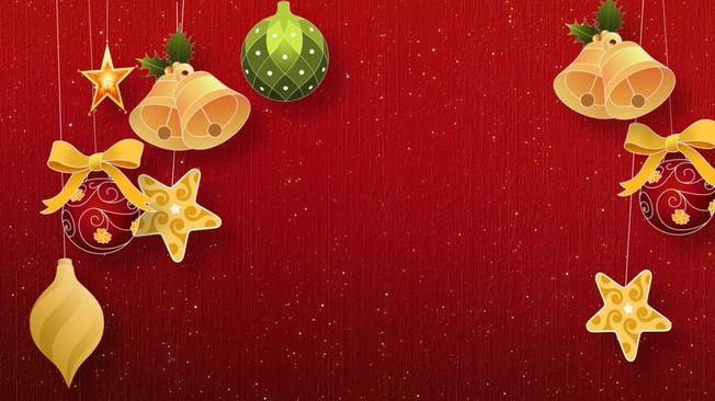 红色手绘圣诞节动态背景视频素材