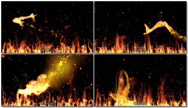 燃烧动态火焰背景视频素材