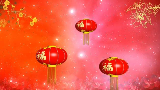 红色灯笼背景视频素材