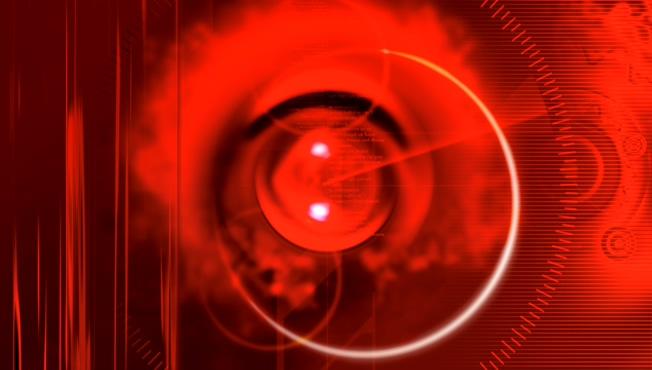 红色灯光光束背景视频素材
