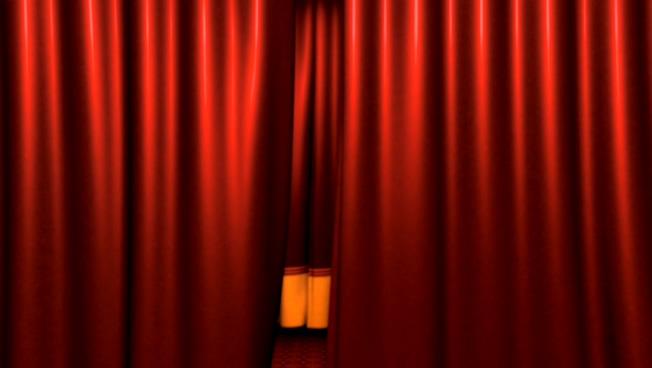 暗红色微立体幕布背景视频素材