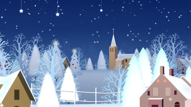 卡通风格圣诞节动态视频素材
