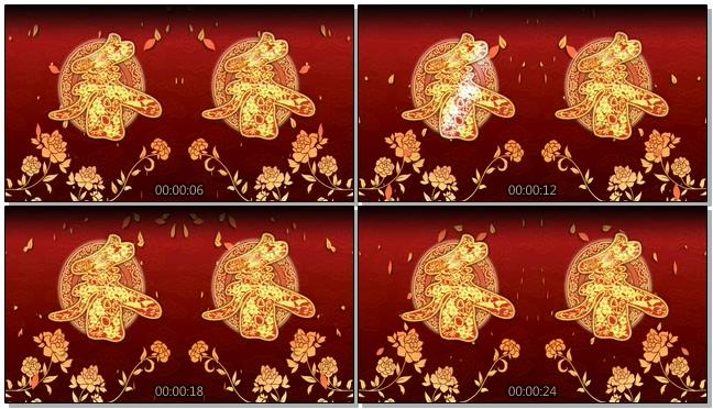 中国风春字视频背景视频模板