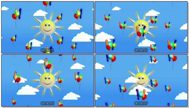 微立体太阳背景视频素材