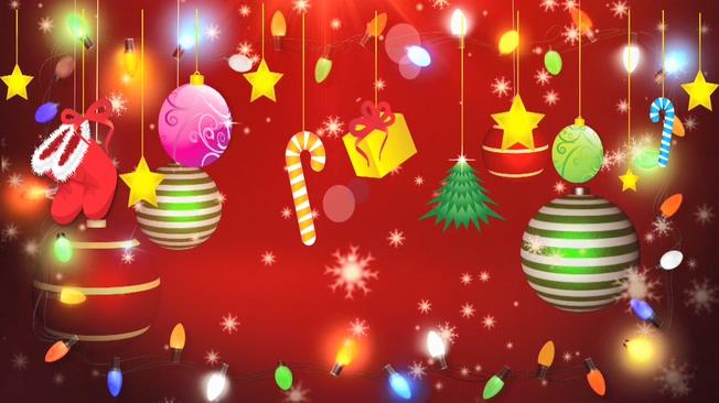 红色喜庆圣诞背景视频素材