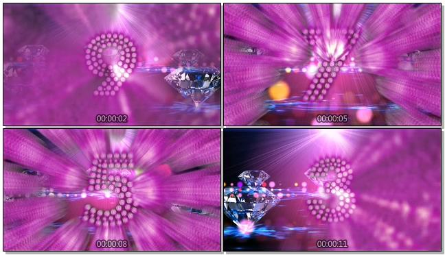 唯美钻石大气10秒倒计时背景视频素材