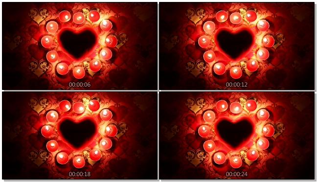红色浪漫温馨爱心背景视频素材