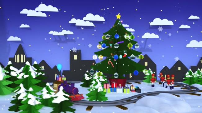圣诞节动画音乐背景视频素材