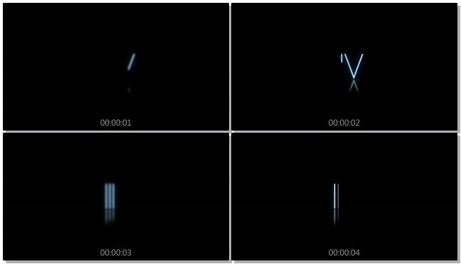 简洁倒计时3秒背景视频素材