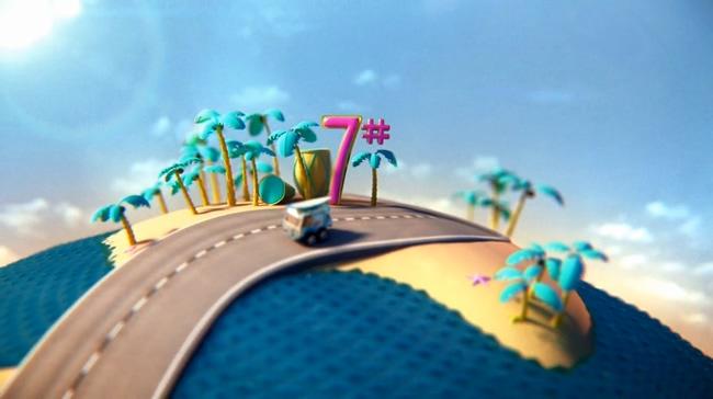 创意趣味汽车倒计时背景视频素材