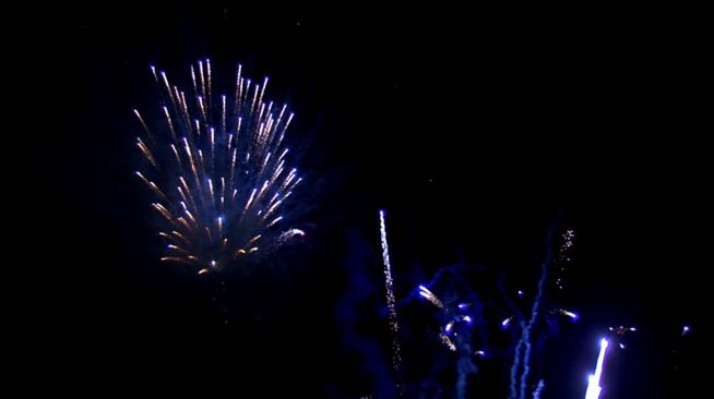 蓝粉双色LED烟花背景视频素材