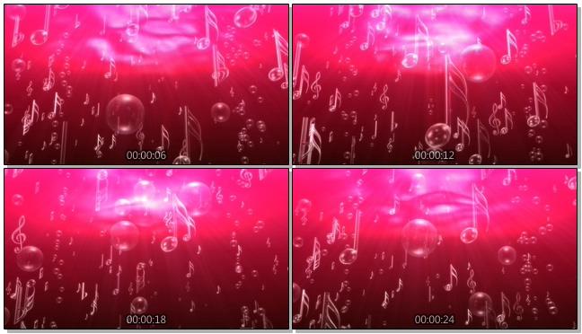 粉紫色动感音符背景视频素材