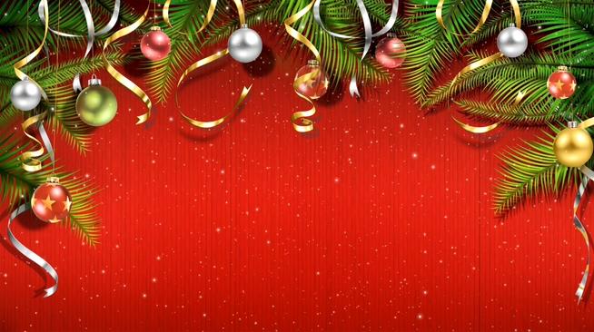 圣诞节动态彩球背景视频素材