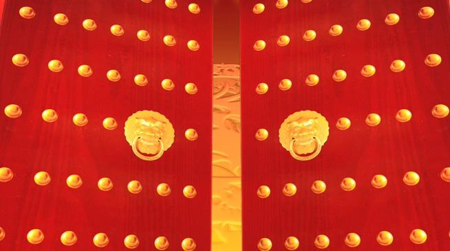 喜庆春节元旦片头背景素材模板