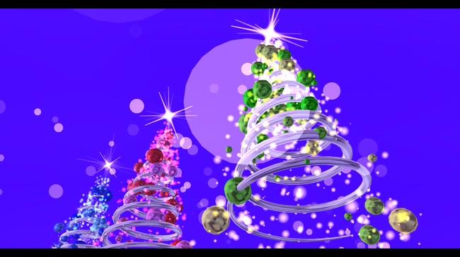 螺旋圣诞树背景视频素材