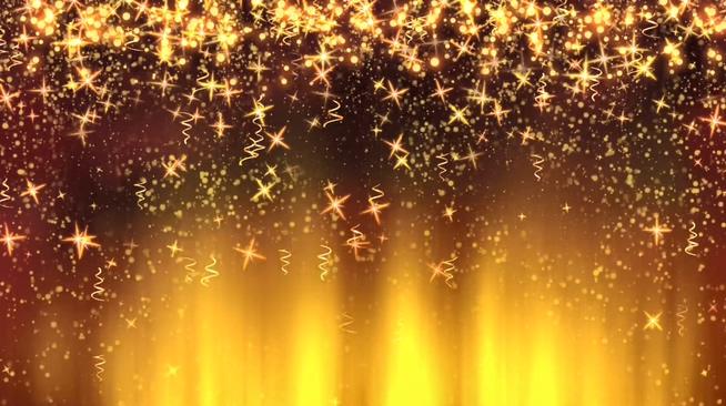 金色大气高端星星背景视频素材