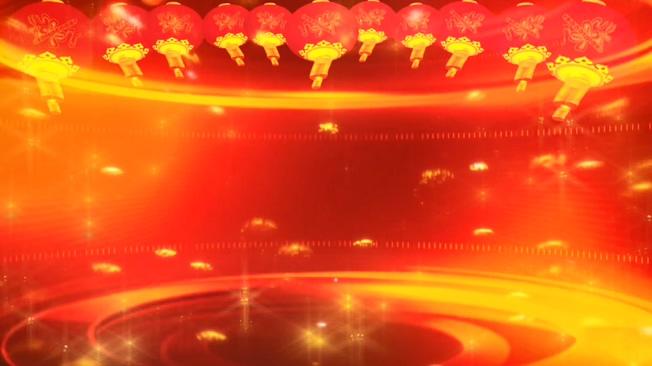 红色立体灯笼新年晚会舞台背景视频素材