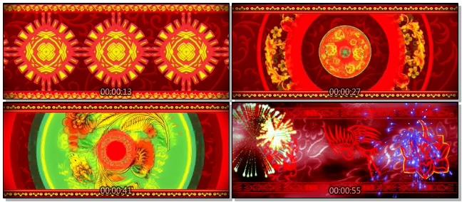 喜庆红色绚丽LED晚会背景视频素材