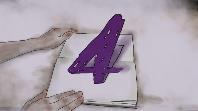 手绘书籍创意趣味倒计时背景视频素材